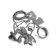 Scootopia Lambretta Series 3 LI125 & 150 Grey Rubber Kit