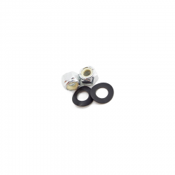 Scootopia Lambretta LI, SX, TV, DL & GP Inlet Manifold White Nyloc nut & Washer Set (1 Pair)